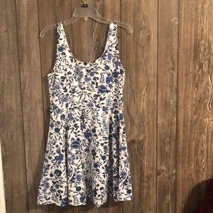 H&M Blue and white Skater Dress